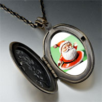 Necklace & Pendants - waving santa claus pendant necklace Image.