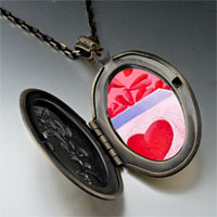 Necklace & Pendants - pink love box pendant necklace Image.