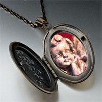 Necklace & Pendants - gazing cherub angel pendant necklace Image.
