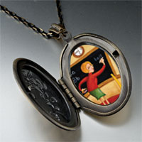 Necklace & Pendants - teacher using blackboard pendant necklace Image.