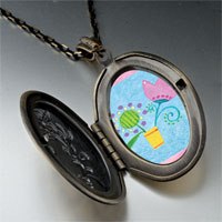 Necklace & Pendants - pink tulip flower pendant necklace Image.