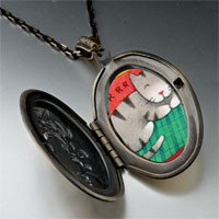 Necklace & Pendants - sleeping kitty cat pendant necklace Image.