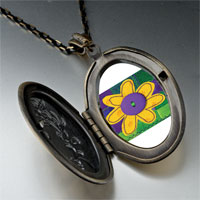 Necklace & Pendants - quilted flower pendant necklace Image.