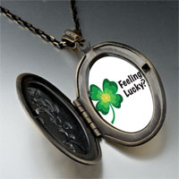 Necklace & Pendants - feeling lucky irish clover pendant necklace Image.