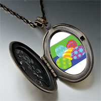 Necklace & Pendants - colorful easter eggs pendant necklace Image.