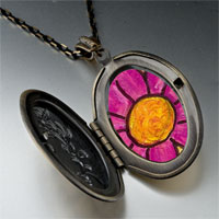 Necklace & Pendants - purple flower by amber pendant necklace Image.
