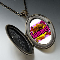Necklace & Pendants - summertime flower by amber pendant necklace Image.