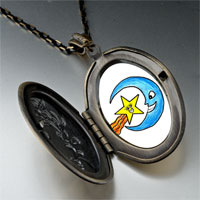 Necklace & Pendants - happy star moon by amber pendant necklace Image.