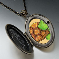 Necklace & Pendants - happy turtle by amber pendant necklace Image.