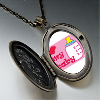 Necklace & Pendants - heart baby bottle pendant necklace Image.