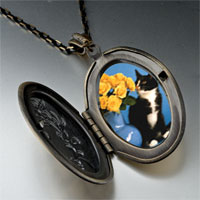 Necklace & Pendants - cat flowers pendant necklace Image.