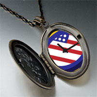 Necklace & Pendants - american flag clock pendant necklace Image.