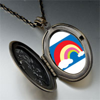 Necklace & Pendants - cloud colorful rainbow pendant necklace Image.