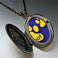 Necklace & Pendants - dog woof paw prints pendant necklace Image.