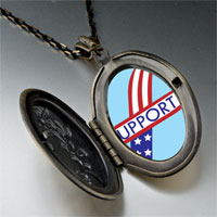 Necklace & Pendants - support american ribbon pendant necklace Image.
