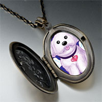 Necklace & Pendants - white dog heaven pendant necklace Image.