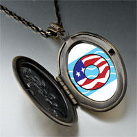 Necklace & Pendants - american flag donut pendant necklace Image.