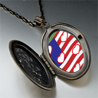 Necklace & Pendants - american flag hearts pendant necklace Image.