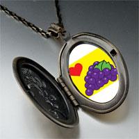 Necklace & Pendants - heart grapes pendant necklace Image.
