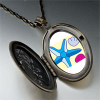 Necklace & Pendants - starfish seashells on beach pendant necklace Image.