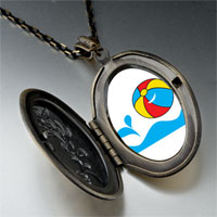 Necklace & Pendants - beach ball pendant necklace Image.