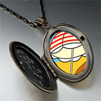 Necklace & Pendants - beach umbrella photo pendant necklace Image.