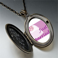 Necklace & Pendants - just married photo pendant necklace Image.