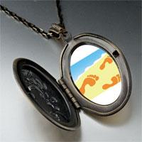 Necklace & Pendants - footprints sand pendant necklace Image.