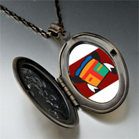 Necklace & Pendants - tribal mask feathers pendant necklace Image.