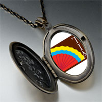 Necklace & Pendants - colorful kokopelli heart pendant necklace Image.
