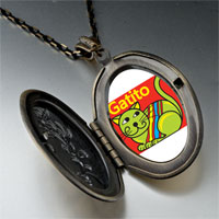 Necklace & Pendants - green colorful cat gatito pendant necklace Image.