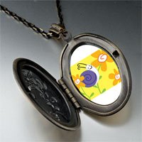 Necklace & Pendants - happy flower snail pendant necklace Image.