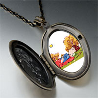 Necklace & Pendants - boy sleeping autumn pendant necklace Image.