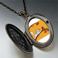 Necklace & Pendants - cat plays apples pendant necklace Image.