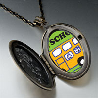 Necklace & Pendants - fun school bus pendant necklace Image.