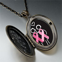 Necklace & Pendants - friends support pink ribbon pendant necklace Image.
