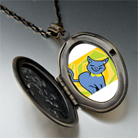 Necklace & Pendants - russian blue cat pendant necklace Image.