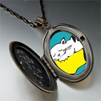 Necklace & Pendants - norwegian forest cat pendant necklace Image.