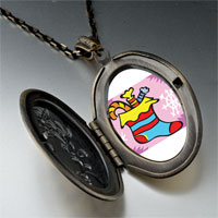 Necklace & Pendants - christmas jewelry halloween candy christmas stocking pendant necklace Image.