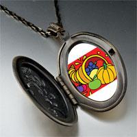 Necklace & Pendants - thanksgiving food basket pendant necklace Image.