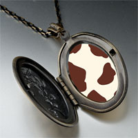 Necklace & Pendants - brown cow skin pendant necklace Image.