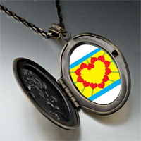 Necklace & Pendants - heart sunflower photo pendant necklace Image.