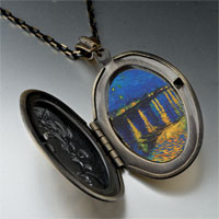 Necklace & Pendants - starry night rhone painting pendant necklace Image.