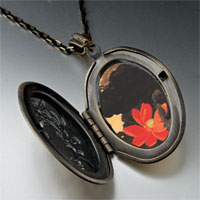Necklace & Pendants - red lotus painting pendant necklace Image.