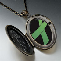 Necklace & Pendants - light green ribbon awareness pendant necklace Image.