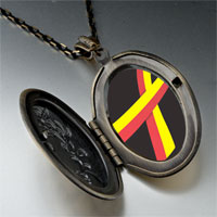 Necklace & Pendants - red yellow ribbon awareness pendant necklace Image.