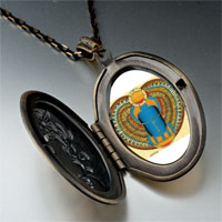 Necklace & Pendants - egyptian khepri photo italian pendant necklace Image.
