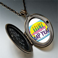 Necklace & Pendants - leap year birthday cake photo pendant necklace Image.