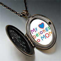 Necklace & Pendants - mother' s day theme photo oval flower yellow heart belongs necklace pendant Image.