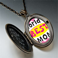 Necklace & Pendants - mother' s day theme photo oval flower yellow world' s best necklace pendant Image.